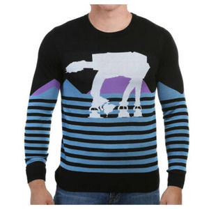 STAR WARS3XL AT-AT Striped Sweater NWT Long Sleeve